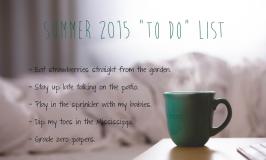 Summer 2015 List